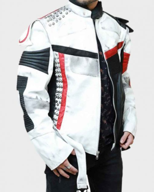 Descendants 3 Cameron Boyce Black And White Leather Jacket