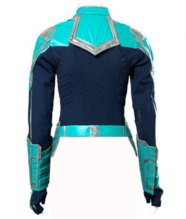 Carol Danvers Captain Marvel Green Leather Jacket