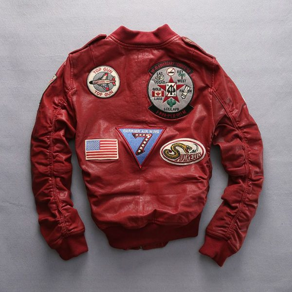 Carrier Air Wing Bomber Leather Jacket