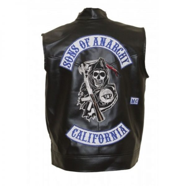 Sons of Anarchy Charlie Hunnam Black Vest