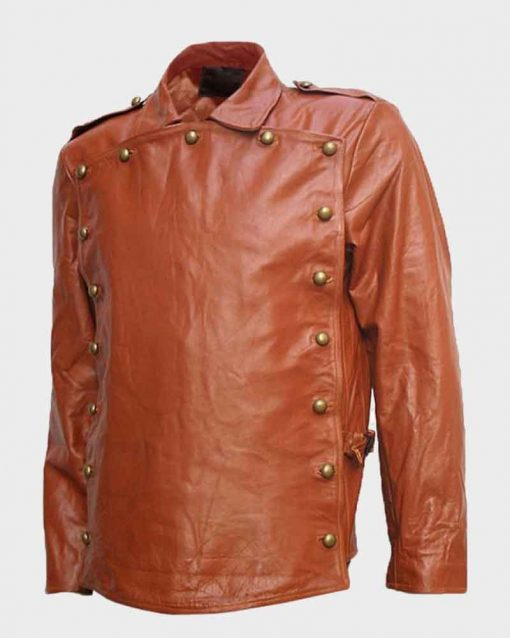 The Rocketeer Billy Campbell Brown Leather Jacket