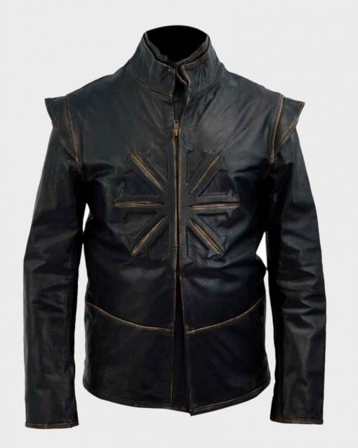 Luke Evans Black Leather Dracula Untold Vlad Jacket