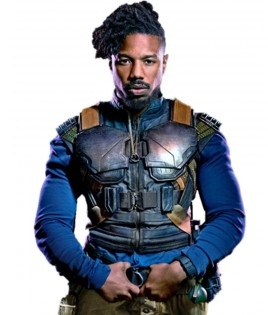 Black Panther Erik Killmonger Leather Vest