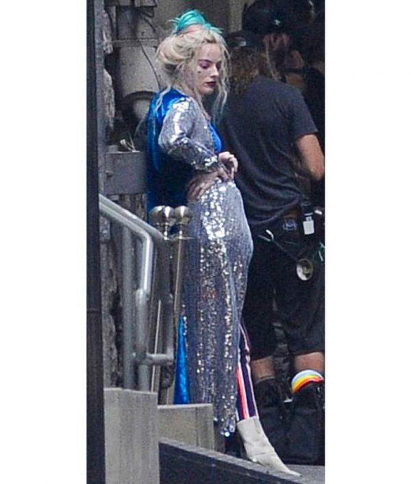 Birds Of Prey Harley Quinn Velvet Sequin Coat