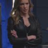 Arrow Season 7 Katie Cassidy Black Jacket
