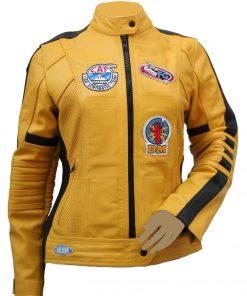 Yellow Motorcycle Kill Bill Leather Jacket