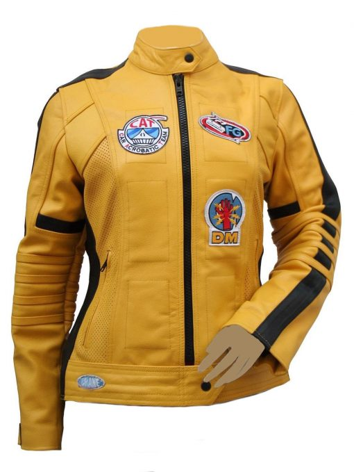 Yellow Motorcycle Kill Bill Leather Jacket