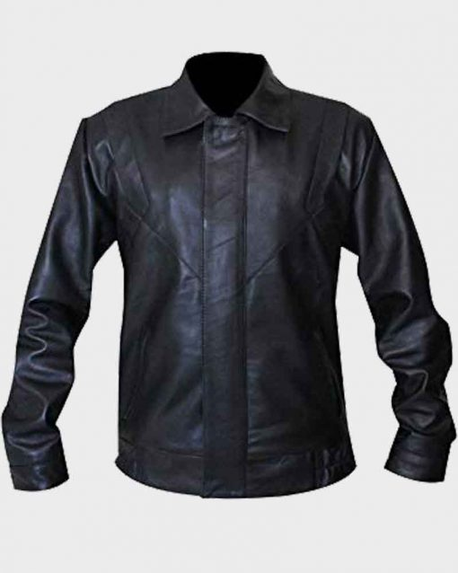 David Hasselhoff Black Leather Knight Rider Michael Knight Jacket
