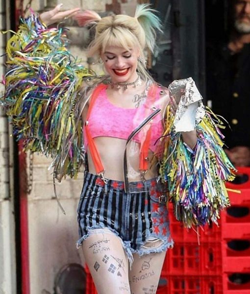 Harley Quinn Wings Jacket Birds Of Prey Margot Robbie Tassel Jacket