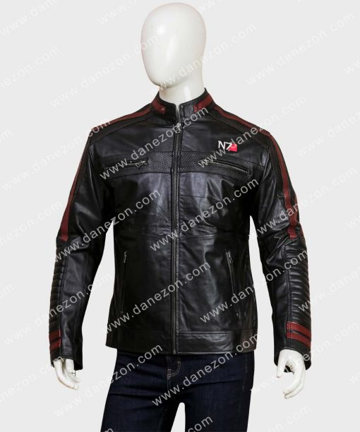 Video Game Mass Effect N7 Leather Jacket