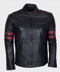 Mens Café Racer Red Stripe Mayhem Retro Jacket
