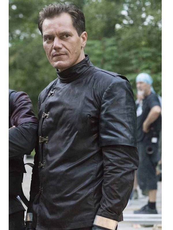 Fahrenheit 451 Michael Shannon Black Slimfit Jacket