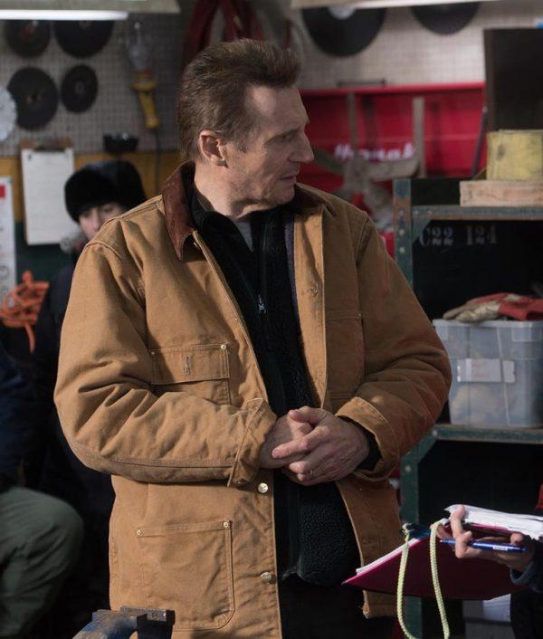 Cold Pursuit Nels Coxman Brown Cotton Jacket
