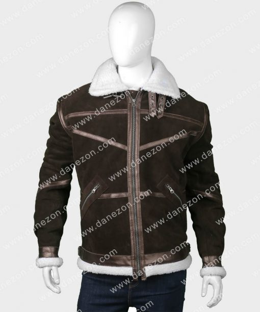 50 Cent Brown Shearling Power Jacket