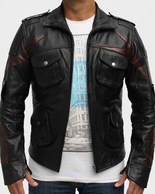 Black Leather Video Game Prototype 2 James Heller Jacket