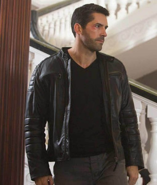 Accident Man Scott Adkins Black Padded Jacket