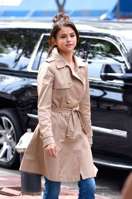 A Rainy Day In New York Selena Gomez Cotton Coat