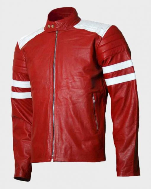 Brad Pitt Fight Club Tyler Durden Red Retro Jacket