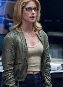 Emily Bett Rickards Arrow Season 7 Bomber Jacket