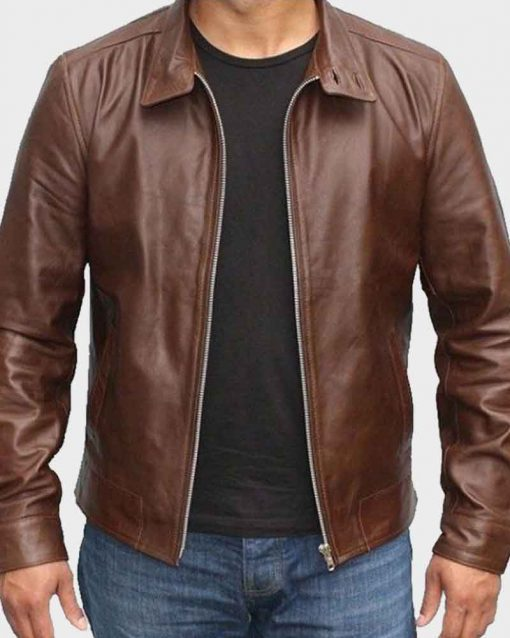 X-Men First Class Magneto Brown Leather Jacket