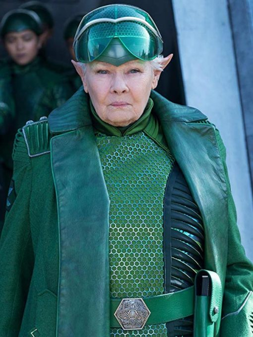 Judi Dench Artemis Fowl Green Coat