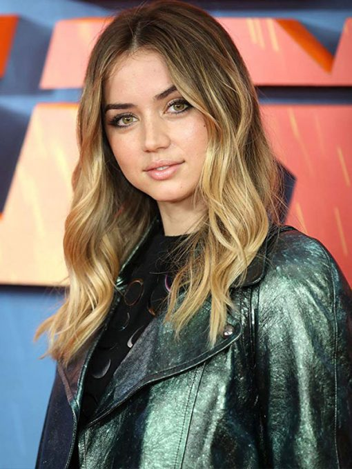 Ana De Armas Blade Runner 2049 Green Jacket