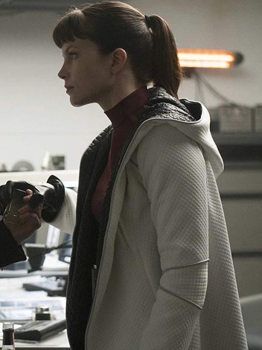 Sylvia Hoeks Blade Runner 2049 Trench Leather Coat