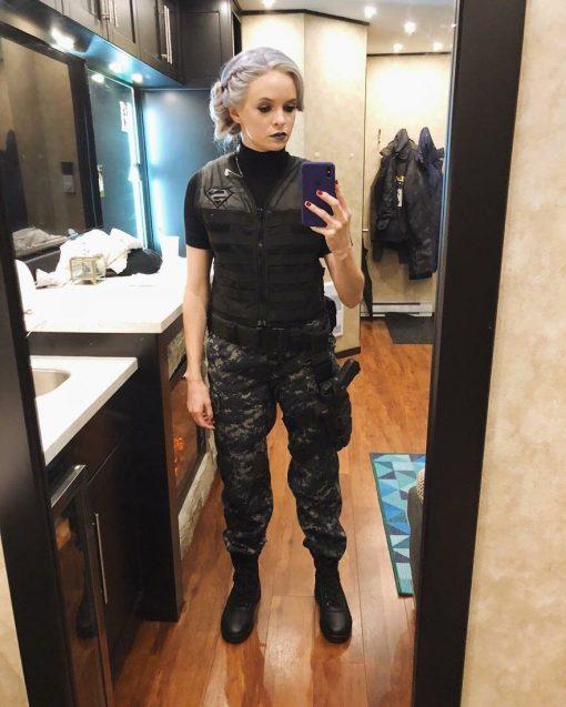 Elseworlds Caitlin Snow Killer Frost Black Vest