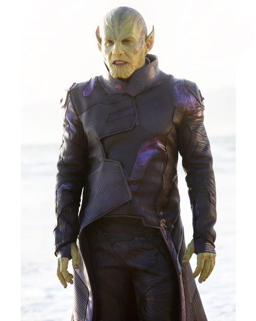 Skrull Captain Marvel Trench Coat