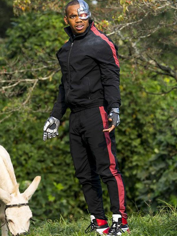 Joivan Wade Cyborg Doom Patrol Black Bomber Jacket