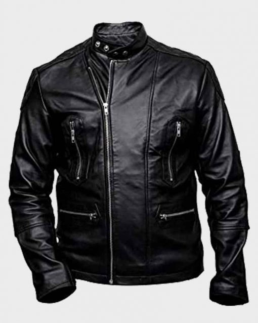Fifty Shades Freed Brant Daugherty Black Sawyer Leather Jacket