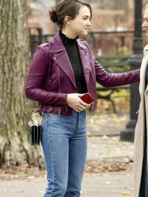 Rachel Bay Jones God Friended Me Purple Jacket