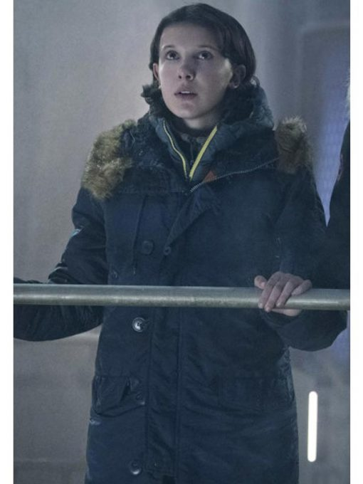Millie Bobby Brown Godzilla King of the Monsters Hooded Coat