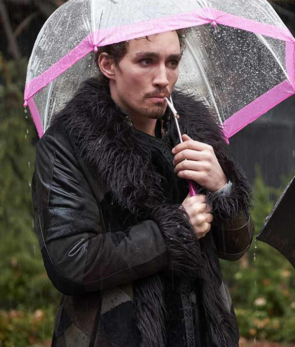 The Umbrella Academy Klaus Black Shearling Coat