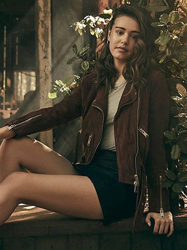 Josie Saltzman Legacies TV Series Suede Jacket