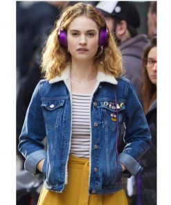 Baby Driver Lily James Blue Denim Jacket