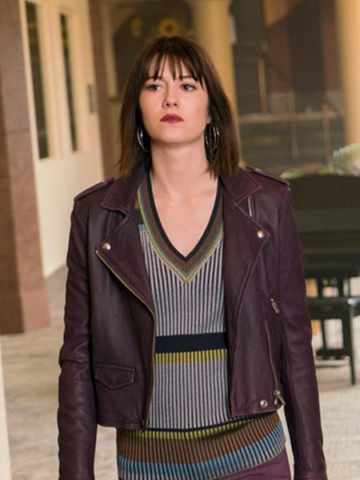 Fargo Mary Elizabeth Winstead Purple Leather Jacket