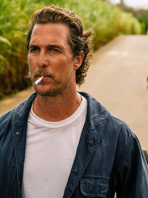 Matthew McConaughey Serenity Blue Cotton Jacket