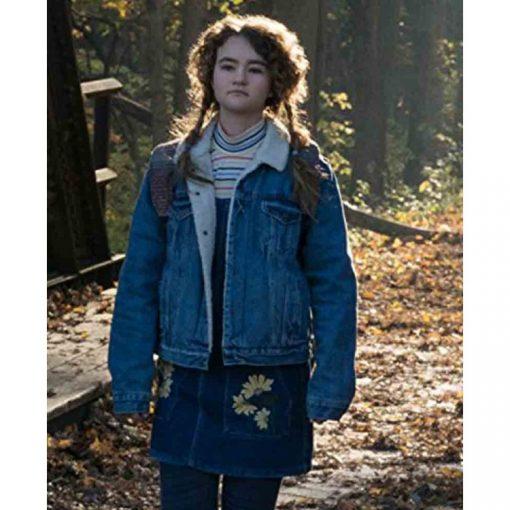 A Quiet Place Milicent Simmonds Blue Jacket