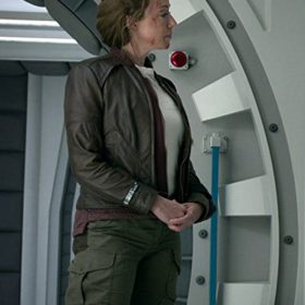 Lost in Space Molly Parker Brown Jacket