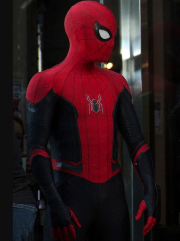 Peter Parker Spider Man Far From Home Red And Black Jacket