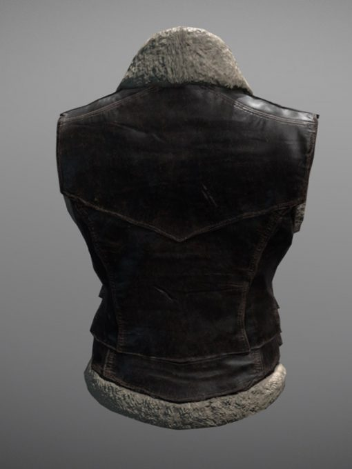 PlayerUnknown's Battlegrounds Online Game Brown Shearling Vest