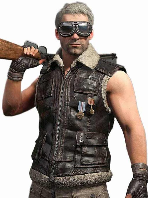 PlayerUnknown's Battlegrounds Online Game Brown Vest