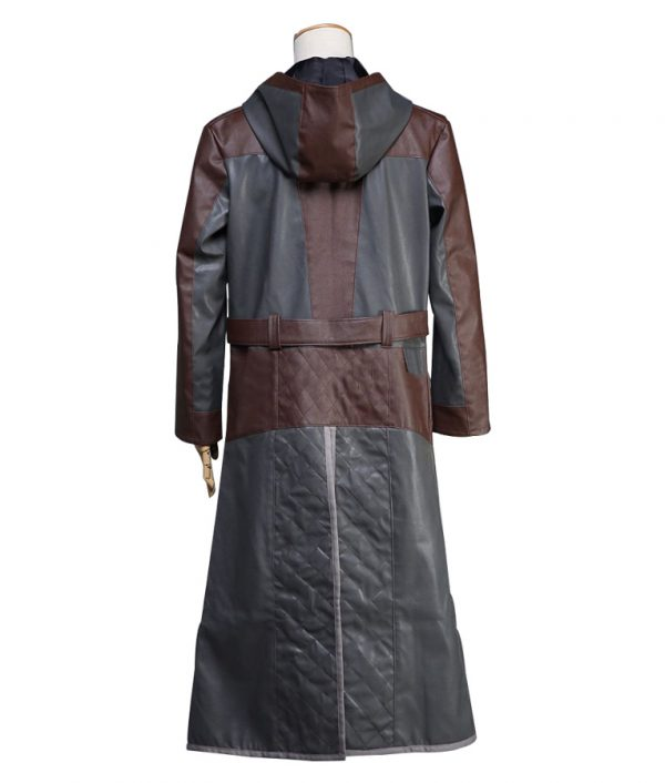 PlayerUnknown's Battlegrounds Online Game Hooded Trench Coat