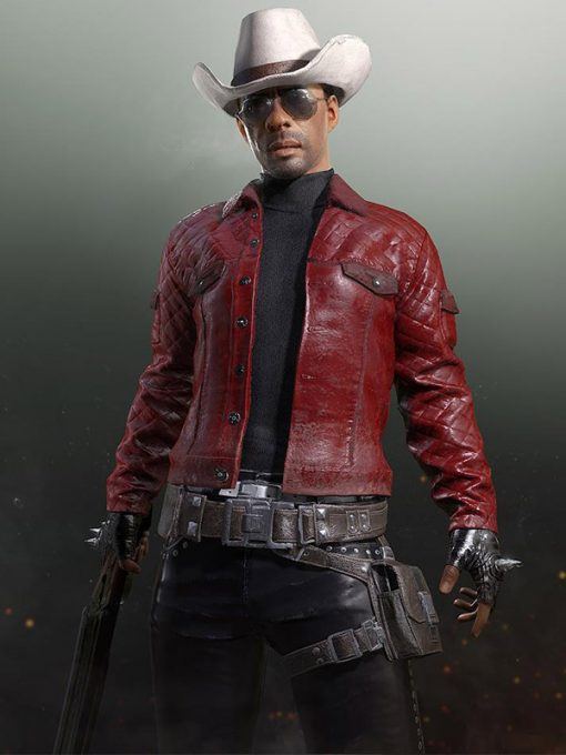PlayerUnknown's Battlegrounds Online Game Red Quilted Jacket