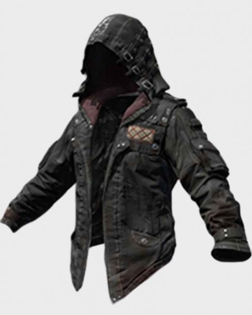 Playerunknown's Battlegrounds Black Leather Jacket with Hood
