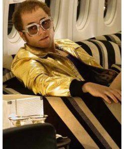 Taron Egerton Rocketman Golden Jacket