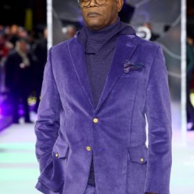 Glass Samuel L. Jackson Purple Blazer