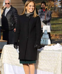 Jennifer Lopez Second Act Black Wool Coat