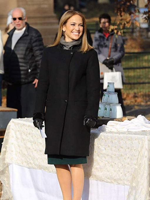 Jennifer Lopez Second Act Black Wool Coat